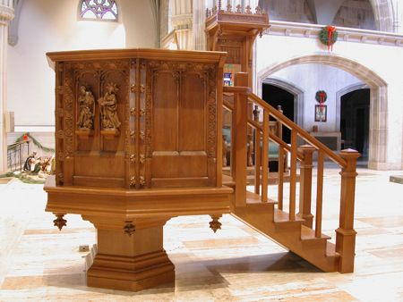 Restored Millwork Raised Pulpit