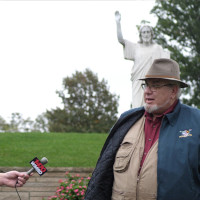 Sir Michael Berlinger Vandalized Statue Interview